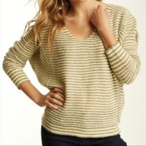 Free People Bumblebee Striped Linen Blend Sweater